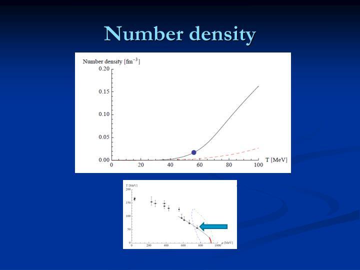 Number density