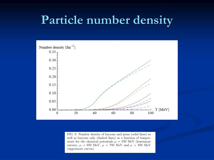 Particle number density