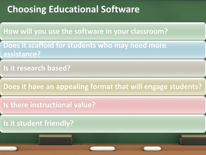 Choosing Educational Software