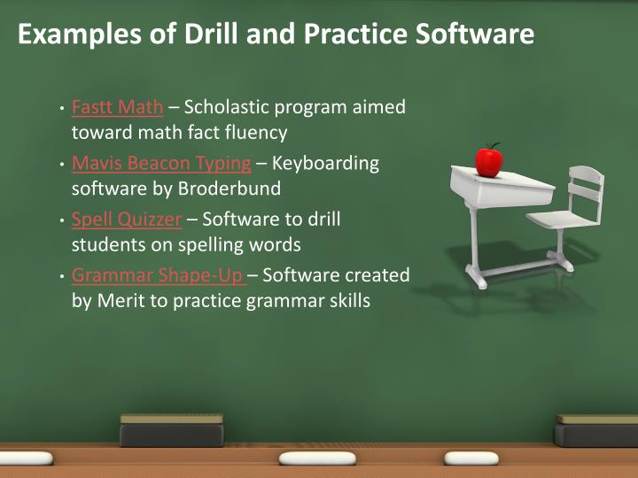 Examples of Drill and Practice Software