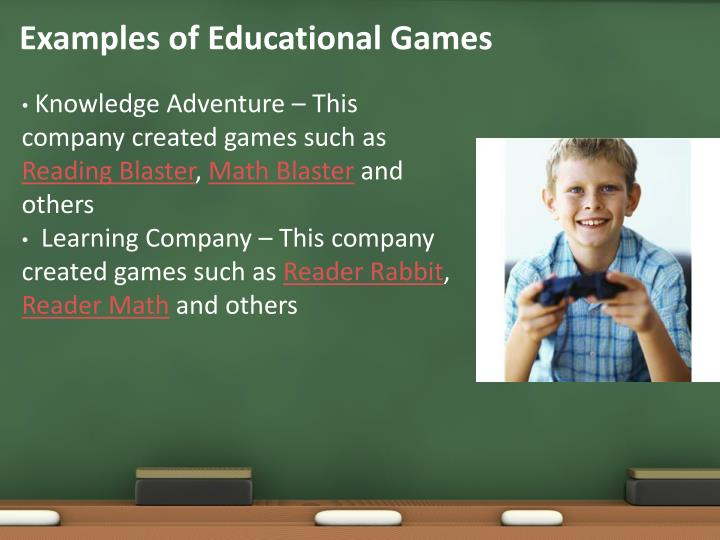 Examples of Educational Games