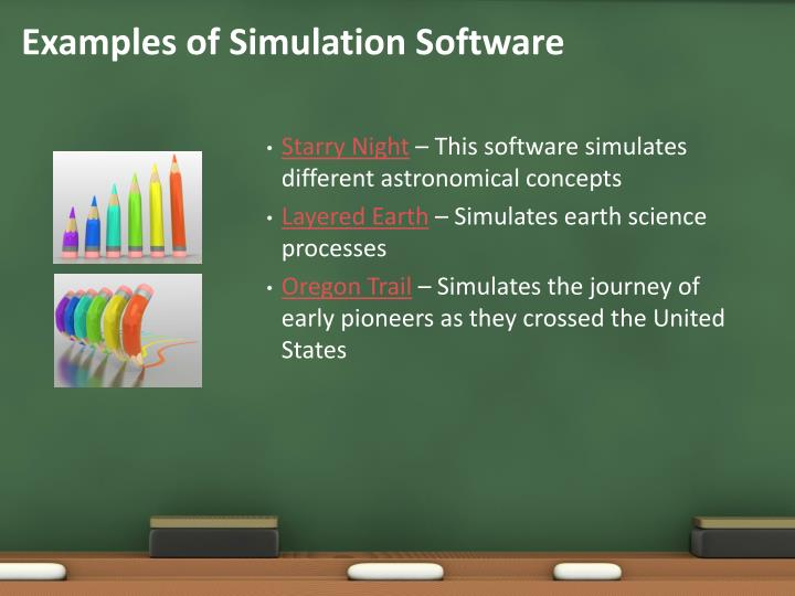 Examples of Simulation Software