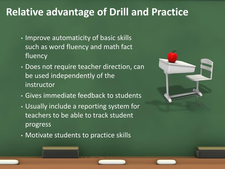 Relative advantage of Drill and Practice