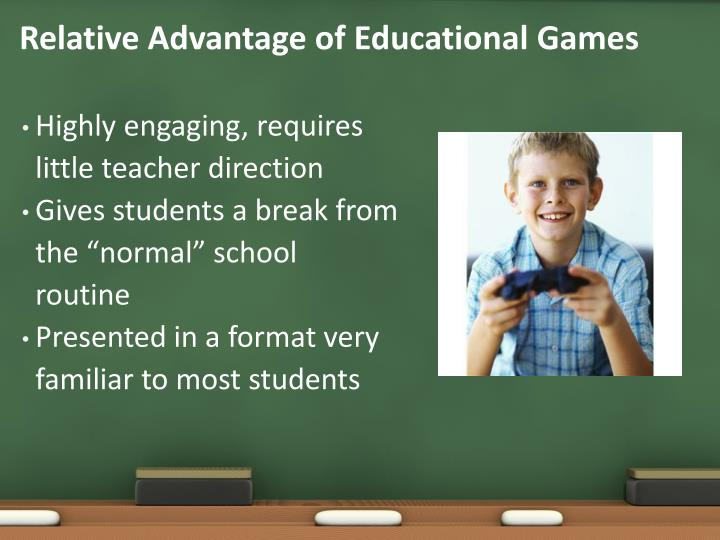 Relative Advantage of Educational Games