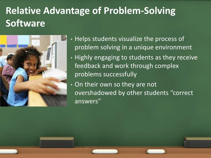 Relative Advantage of Problem-Solving Software