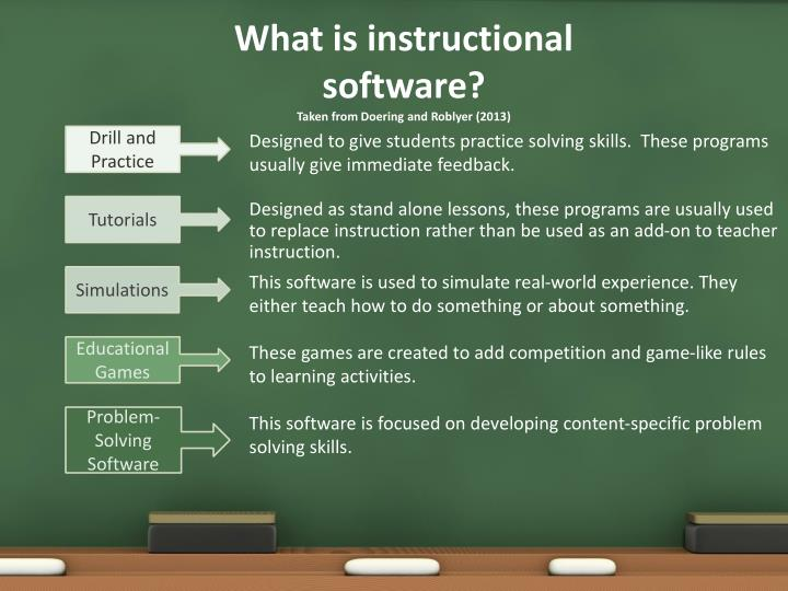 What is instructional software?