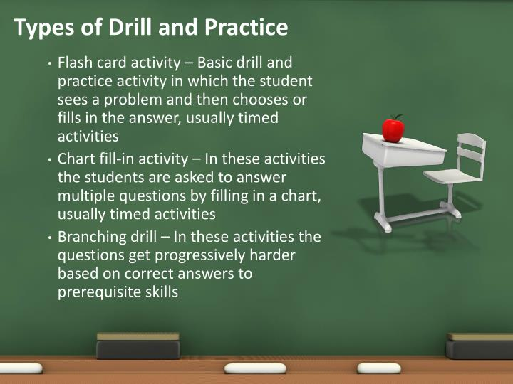 Types of Drill and Practice