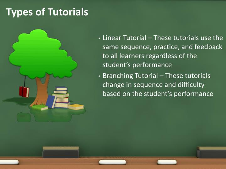 Types of Tutorials