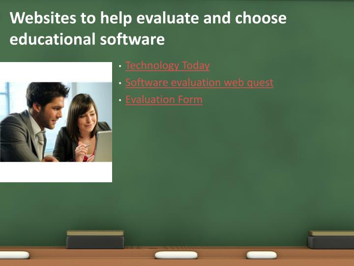 Websites to help evaluate and choose educational software