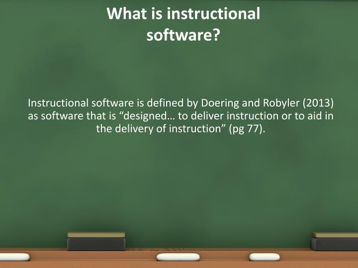 What is instructional software