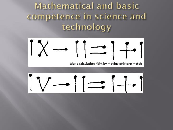 Mathematical and basic competence in science and technology