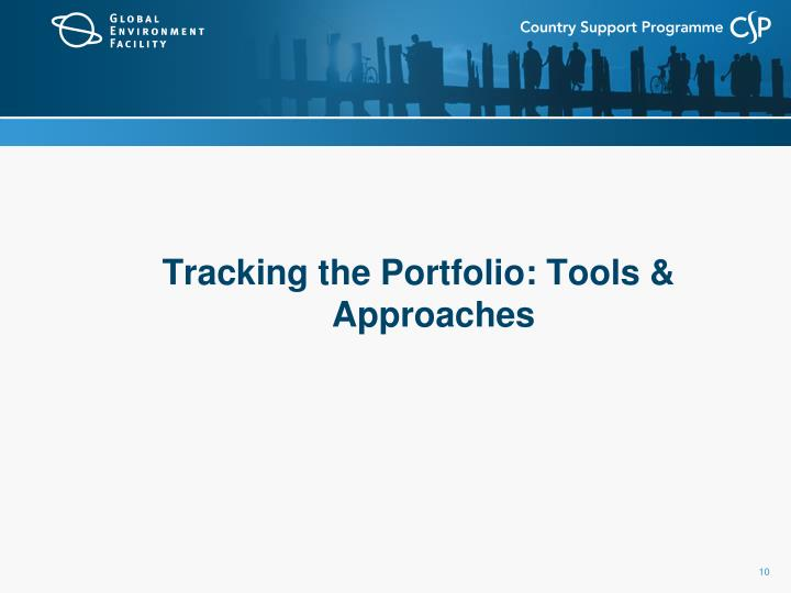 Tracking the Portfolio: Tools & Approaches