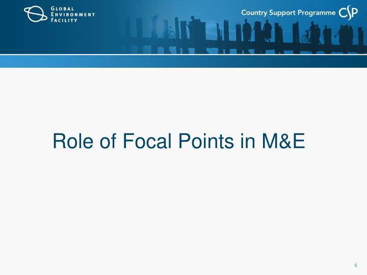Role of Focal Points in M&E
