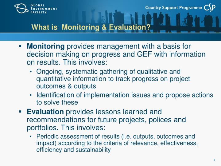 What is  Monitoring & Evaluation?
