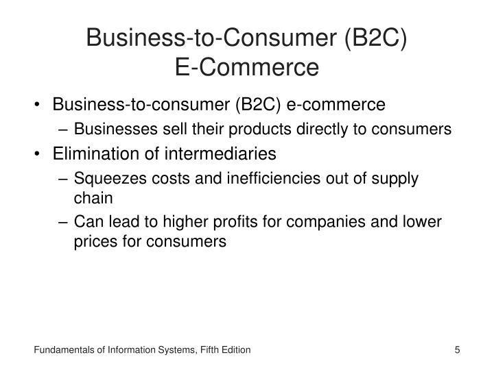 Business-to-Consumer (B2C)            E-Commerce