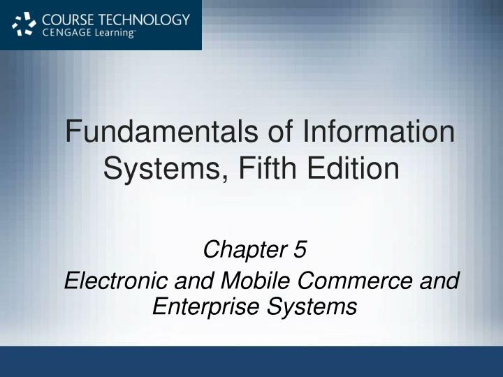 Fundamentals of information systems fifth edition