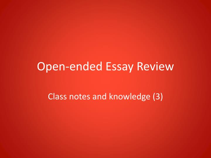 end of the semester essay