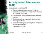 activity based intervention abi3