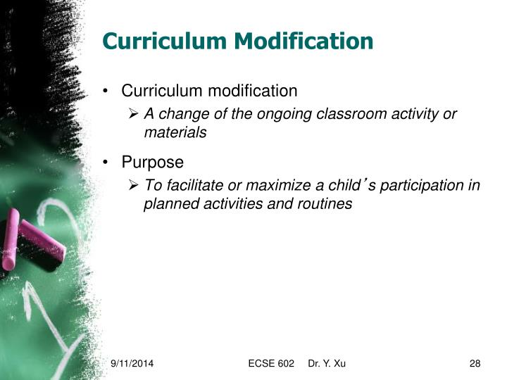 Curriculum Modification