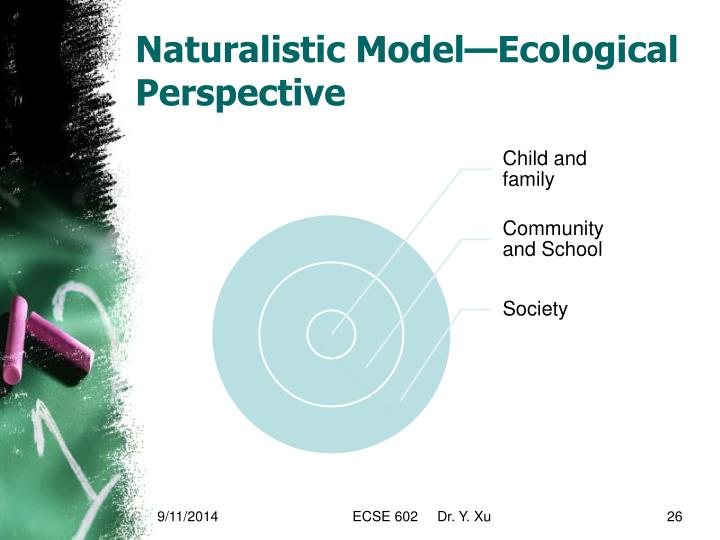 Naturalistic Model—Ecological Perspective