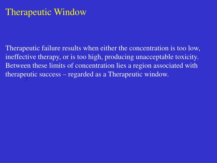 Therapeutic Window