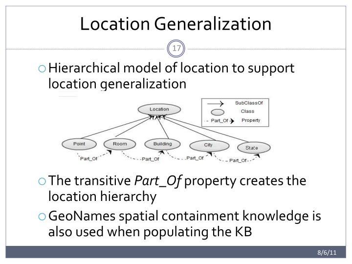 Location Generalization