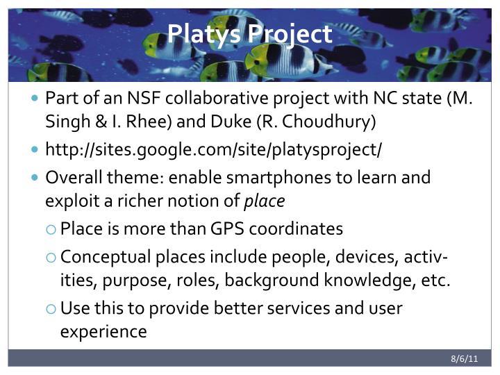 Platys Project
