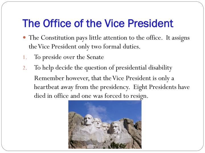 The Office of the Vice President