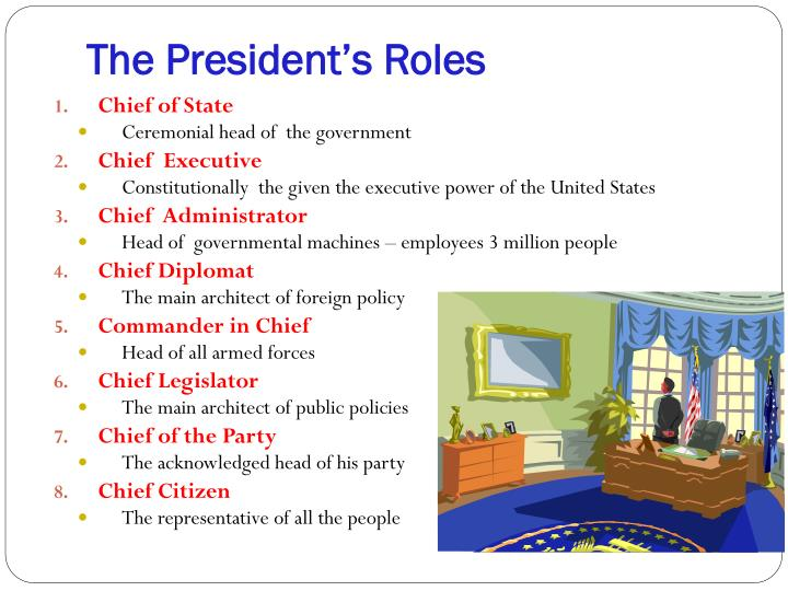 The president s roles