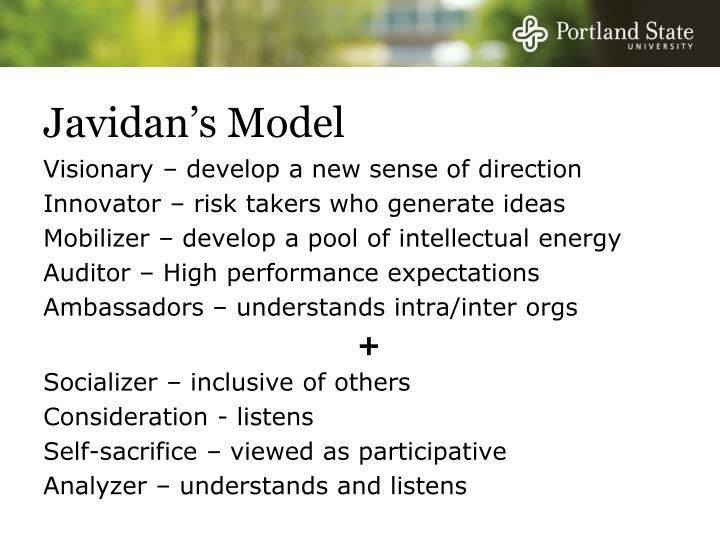 Javidan's Model