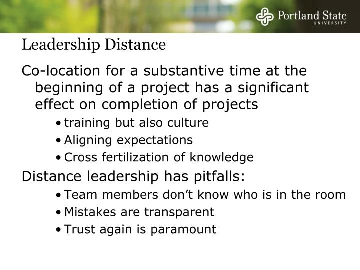 Leadership Distance