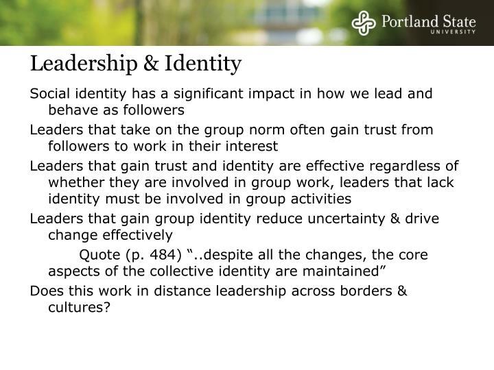 Leadership & Identity
