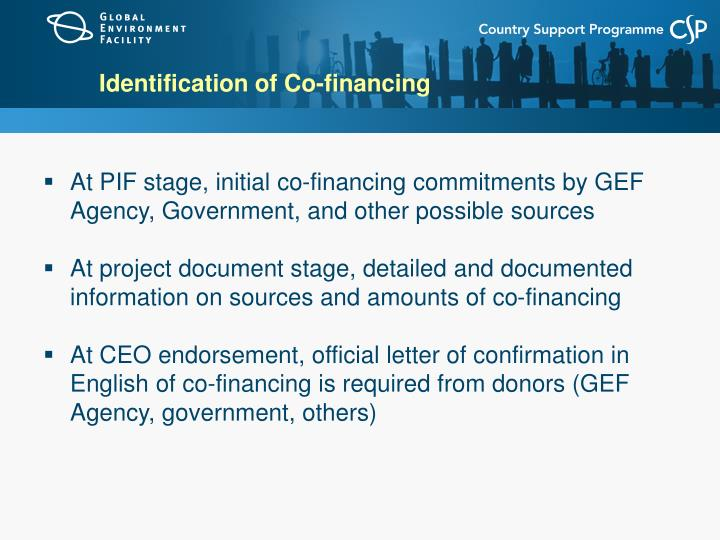 Identification of Co-financing