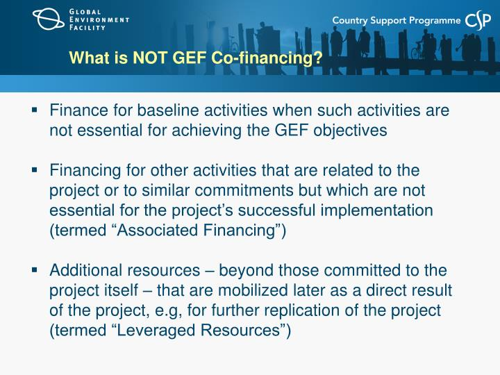 What is NOT GEF Co-financing?
