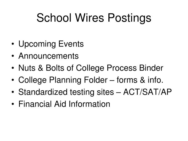 School wires postings