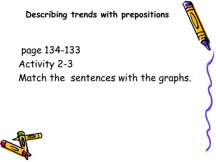 Describing trends with prepositions