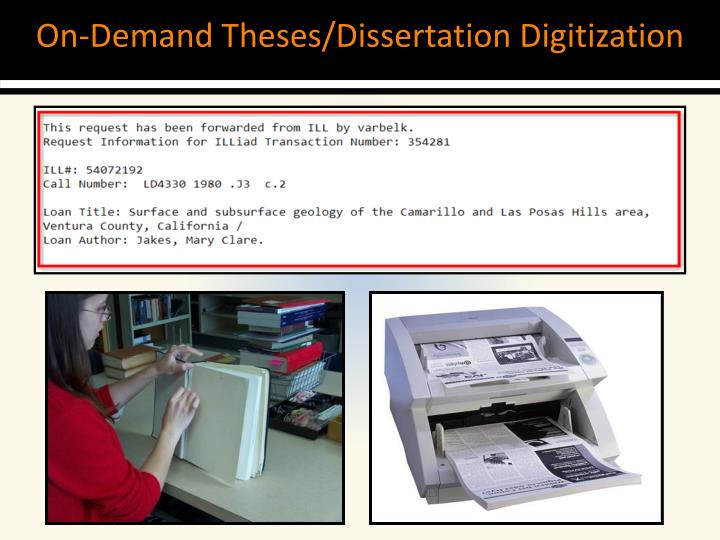 On-Demand Theses/Dissertation Digitization