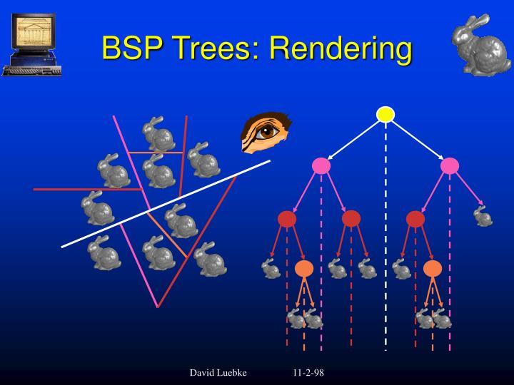 BSP Trees: Rendering