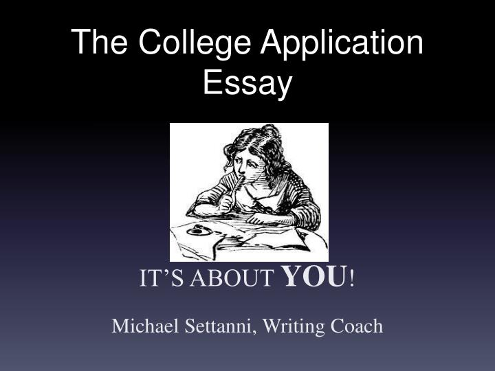 How to write an application essay ppt