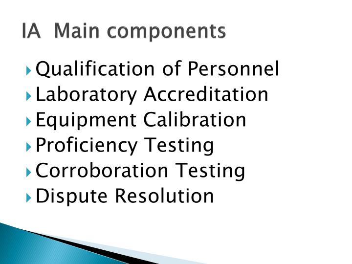 IA  Main components