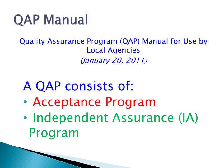 QAP Manual