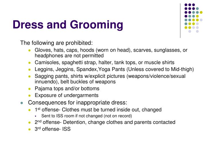 Dress and Grooming