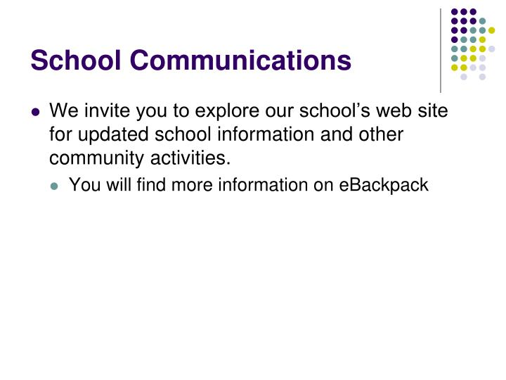 School Communications