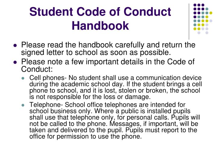 Student Code of Conduct Handbook