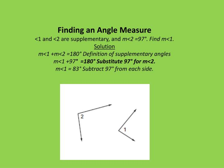 Finding an Angle Measure