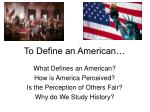 to define an american
