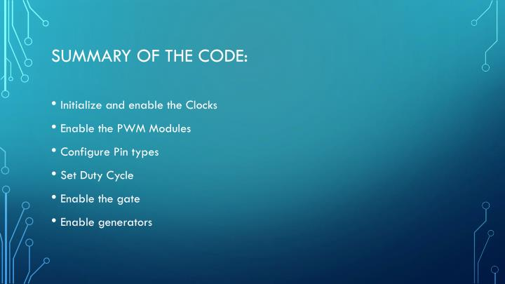 Summary of the Code: