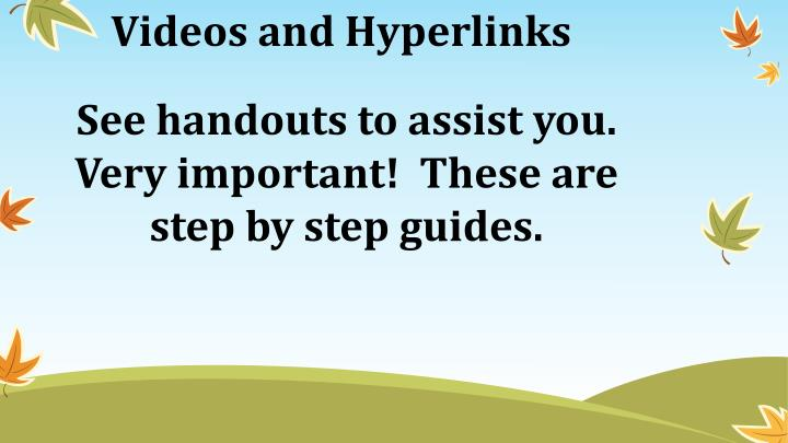 Videos and Hyperlinks
