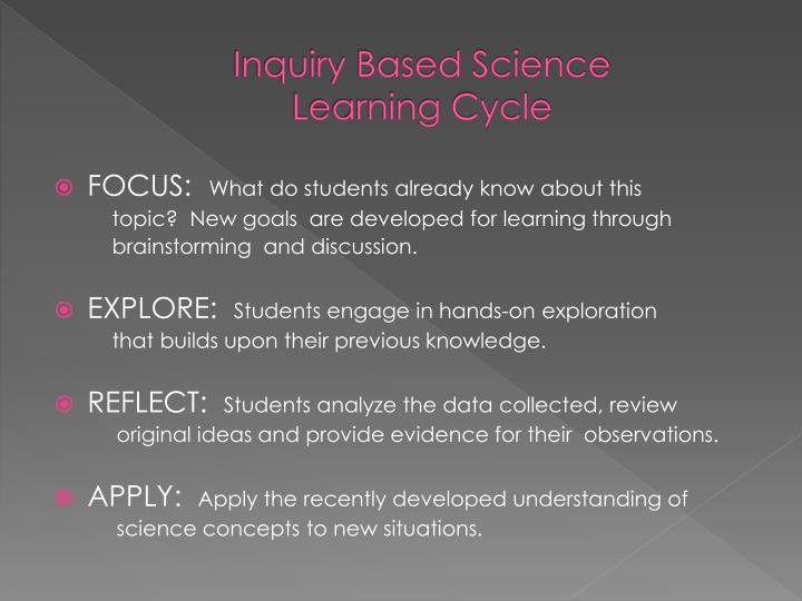 Inquiry Based Science