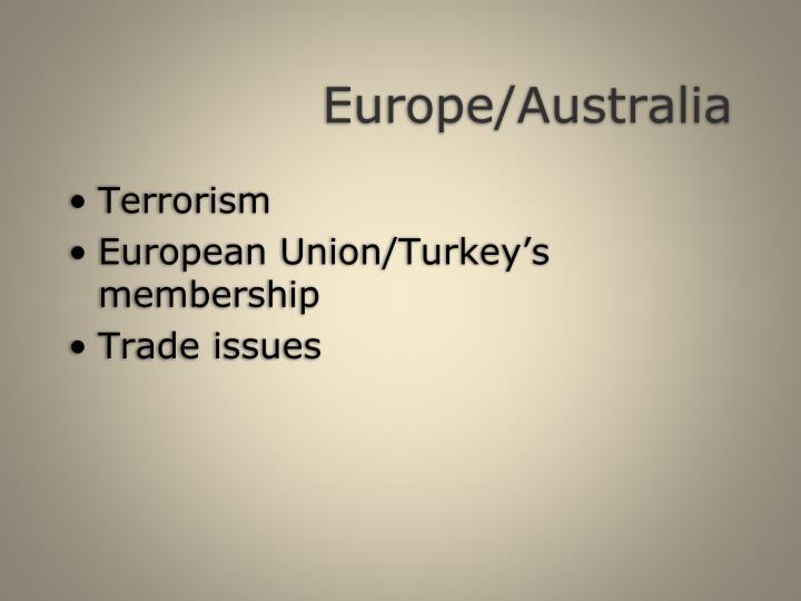 Europe/Australia